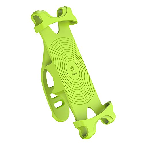 Metal+Silicone Bicycle Bike Motorcycle Bracket Cell Phone Mount Holder Universal Bike Phone Mount-Fluorescent Green by Studyset