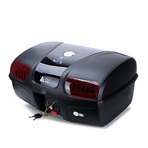 Motorradkoffer/Helmkoffer,AUTOINBOX 47 Liter Motorrad Kofferraum Gepäck Motorrad Top Back Box Hinterhelm…