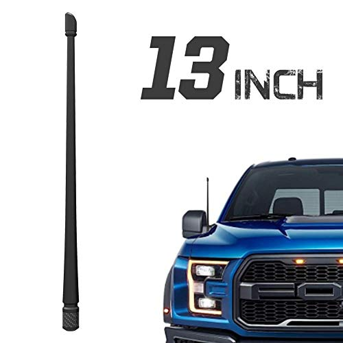 Rydonair Antenna Compatible with Ford F150 2009-2020 | 13 inches Flexible Rubber Antenna Replacement | Designed for Optimized FM/AM Reception (Ford F150 Fm Antenna)
