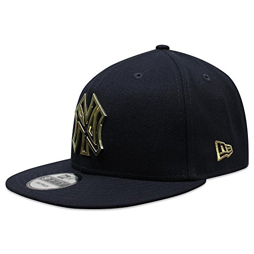 New Era Officially Licensed MLB New York Yankees OSFA Metal Framed Navy 9Fifty Snapback (Era Metal)