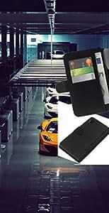 LECELL--Cuero de la tarjeta la carpeta del tirón Smartphone Slots Protección Holder For Sony Xperia Z2 D6502 -- Italianos Sports Cars --