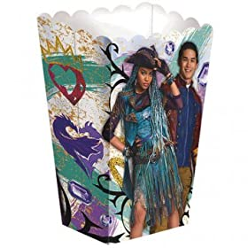8 count Disney Descendants 2 Paper Favor Container Popcorn Treat Box Birthday Party Supplies