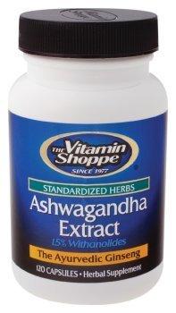 the Vitamin Shoppe Ashwagandha Extract 60 Capsules by Vitamin Shoppe