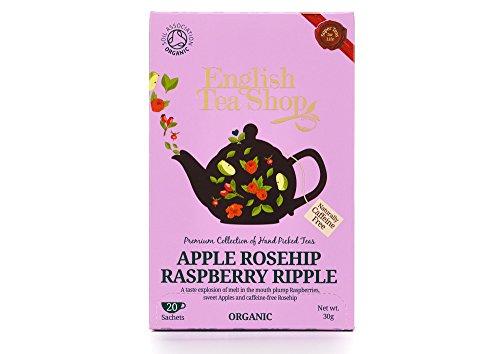 English Apple - English Tea Shop Organic Apple Rosehip Raspberry Ripple Super Teas 20 Sachet Tea Bags (Pack of 3)
