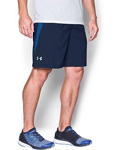 "Under Armour Men's UA Launch Run 9"" Printed Shorts X-Large Midnight Navy"