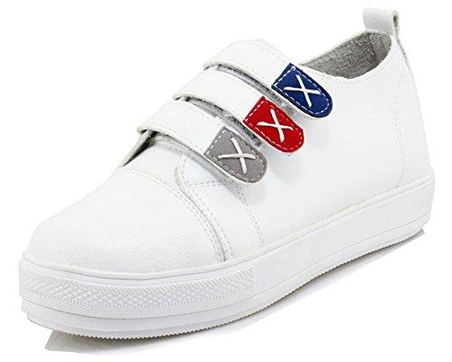 Scratchs Chaussures Mode Femme Sport Aisun Blanc Plates Plateforme Enceinte Baskets IORwBIqT