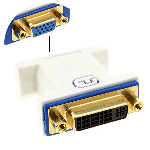 Socket Dvi (Kenable PRO DVI 24+5 Socket to VGA Socket 15 pin Video Coupler Joiner White)
