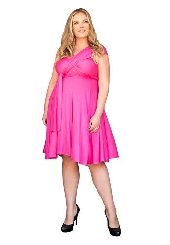 日帰り旅行に浸す負担SWAKデザイン女性用プラスサイズノースリーブカクテルEternity Convertibleドレス US サイズ: 3L カラー: ピンク