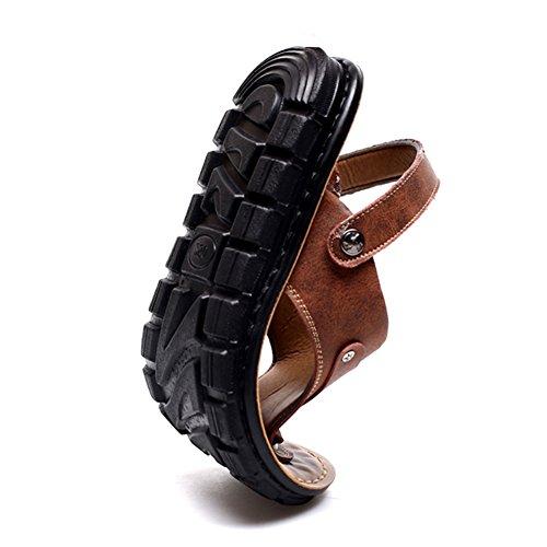 EU39 Tamaño De 5 claro QIDI Playa Temporada Marrón Verano Transpirable UK6 Microfibra oscuro Zapatos Zapatillas Gris Sandalias Marron De Marrón Color Antideslizante qBBaTxS