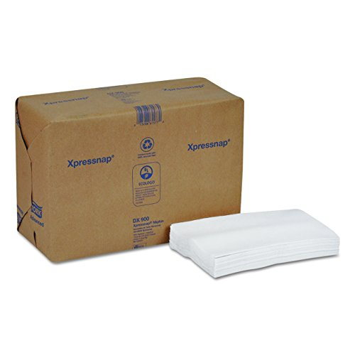 Tork DX900 Xpressnap Interfold Dispenser Napkins, 1-Ply, Bag-Pack, 13x8 1/2,White (Case of 6,000)