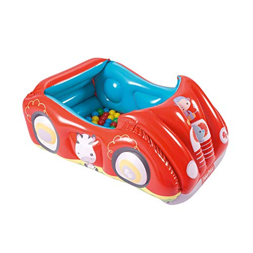 Bestway Fisher Price Race Car Inflatable Play Pen Ball Pit Activity Center with 25 Balls ()