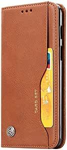One plus 6 - جراب جلدي بحامل مع فتحات لبطاقة الصورة وحافظة متعددة الوظائف ومحفظة لهاتف واحد بلس 6