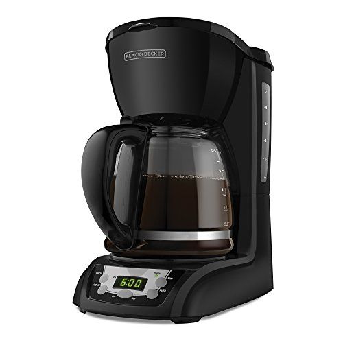 Black & Decker DLX1050B 12-Cup Programmable Coffeemaker with Glass Carafe, Black - 12 Cup Glass Coffee Maker