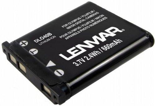 LENMAR DLO40B: REPLACEMENT BATTERY FOR OLYMPUS LI-40B, FUJIFILM NP-45, NIKON EN-EL10, CASIO NP-80, KODAK KLIC-7006, PENTAX D-LI63 BY LENMAR Fits: Olympus Tough 770SW / Stylus 850 SW / 840 / 830 / 820 / 790SW / 790 SW / 780 / 770 SW / 760 / 750 / 740 Digital / 740 / 725 SW / 720 SW / 710 Digital / 710 / 7010 / 7000 / 700 Digital / 550WP / 1200 / 1050 SW / SP-700 / Sanyo Xacti VPC-T850 / Xacti VPC-T1060 / VPC-T700 / Vivitar ViviCam 6330s / ViviCam 5350s / FujiFilm FinePix Z37 / Z33WP / Z33 / Z30fd / Z30 / Z20fd / Z200fd / Z200 fd / Z10fd / Z100fd / J38 / J28 / J250 / J20 / J150W / J15 / J120 / J12 / J110W / J100 / J10 Replaces: Olympus Li-42B / Li-40B / FujiFilm NP-45 / Nikon EN-EL10 / Casio NP-80 / NP-82 / Kodak KLIC-7006 / Pentax D-L163 / D-Li63 - Stylus Olympus Sw 1050