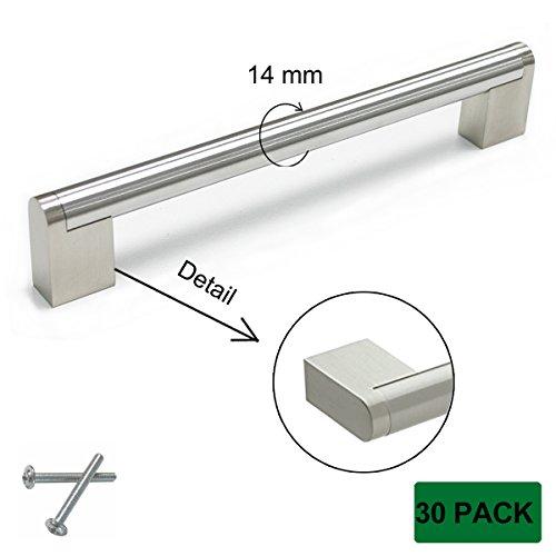 Probrico 14mm Diameter Stainless Steel Furniture Drawer Door Pull Knobs Cupboard Wardrobe Hardware Long 7.88