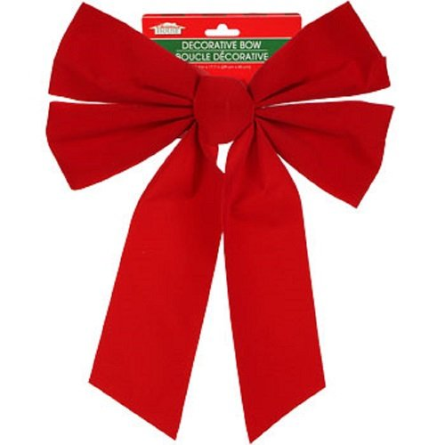 Christmas Decoration Large Red Velvety Bow 10.75x11.75-in. Pre-tied (Quick Homemade Halloween Costumes)