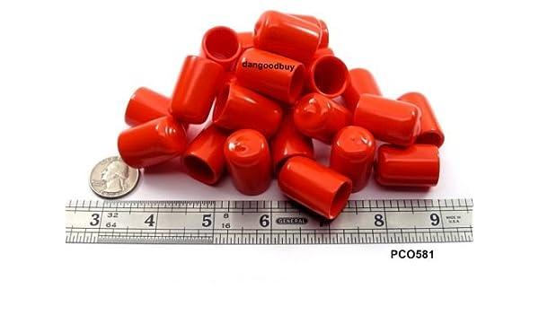 "6 Push-On Pliable Vinyl Caps End Caps 5//8/"" to Diam Plastic tips 3//4/"" Ht"