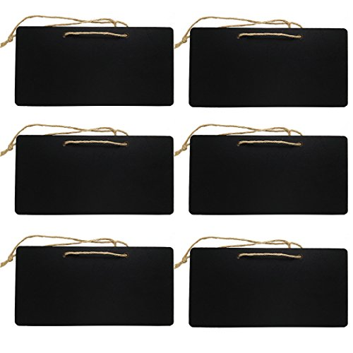 durable modeling UHQ Erasable Rectangle Chalkboards Blackboards display for Message Board Sign, Set of 6