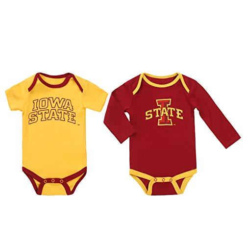 NCAA Iowa State Cyclones 2 pcs Baby Bodysuits (9-12) Red