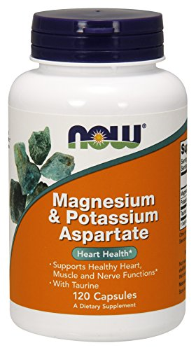 NOW Magnesium & Potassium Aspartate with Taurine,120 Capsules