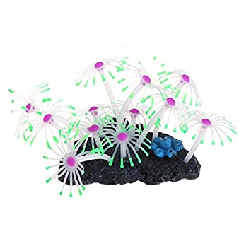 Shoresu Aquatic Coral Acuario pecera Decoración Brillante Artificial Resina Plantas de Silicona: Amazon.es: Hogar