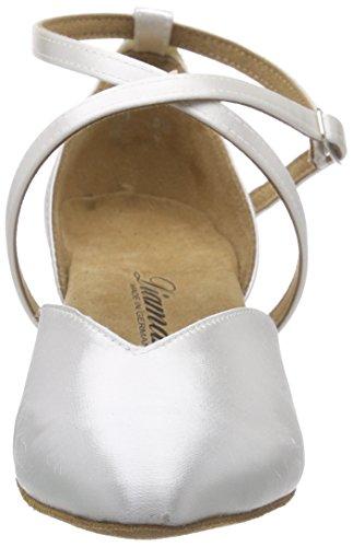 Diamante Scarpe Da Sposa Ballo Scarpe Da Ballo Delle Signore Scarpe 107-013-092 - Standard & Latin Bianco (bianco)