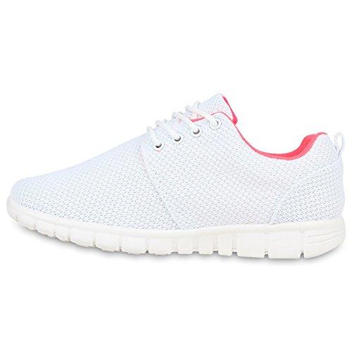 Japado - Zapatillas Mujer - Weiss Neonpink