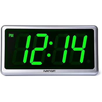 Amazon Com Ivation Big Time Digital Led Clock Table Or