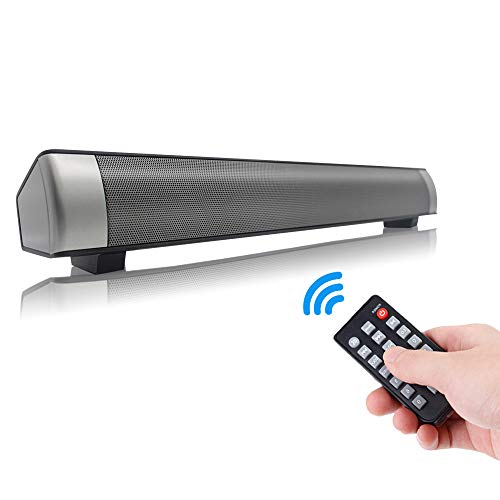 Sanwo Black Wired and Wireless Bluetooth Home Theater TV Stereo Speaker with Remote Control
