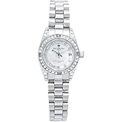 Izax Valentino watch analog display date display day of the week display Silver IVG-1000-5 Men's