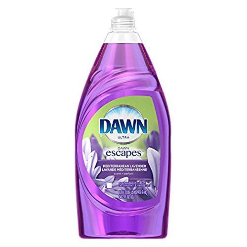 2 Pk. Dawn Escapes Dishwashing Liquid Dish Soap, Fuji Mediterranean Lavender, 34.2 Fl Oz (68.4 Fl. Oz Total) (Dawn Dish Soap Lavender)