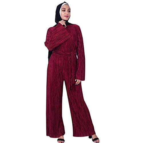 HYIRI Muslim Women's Summer Sexy National Robe Embroidered Dress