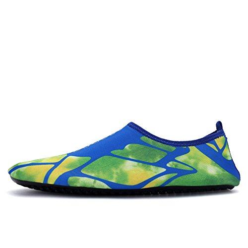 Schnell trocknende Aqua-Wasser-Schuhe Santiro Frauen-Männer für Strand-Pool-Brandungs-Yoga-Übung Marine 3