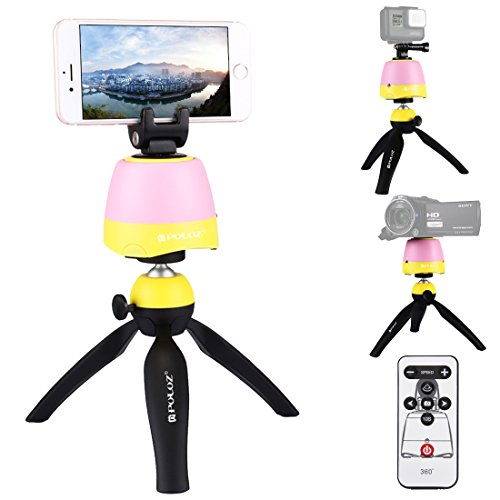 Selfie Stick Tripod, PULUZ Intelligent 360 Degree Rotation Panoramic Self-timer with Tripod Head + Tripod Stand + Action Camera Mount + Phone Clamp + IR Remote Control Max load: 1.0kg/2.2lb by PULUZ