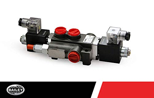 Chief 12 Volt 4 Way 3 Position Solenoid Operated Directional Control Valves: 2 Spool, 13 GPM, 3625 Max PSI with SAE 10 Inlet/Outlet Ports and SAE 8 Work Ports, 220876 (3 Way 2 Position Directional Control Valve)