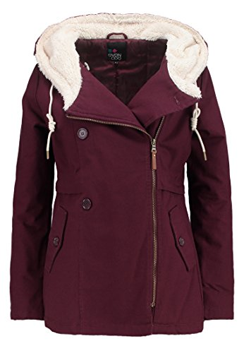 Women's Ladies Black Jacket Length Parka Lined Hood Padded C with Even Jacket Lightly Navy Mid Red Padded in Winter Fleece Coat Red amp;ODD Transition Jacket 6vwqng5