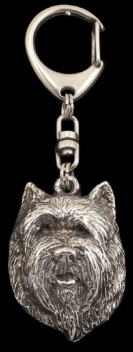 Cairn Terrier (Front), Silver Hallmark 925, Silver Dog Keyring, Keychain, Limited Edition, Artdog by Art Dog Ltd. (Image #2)