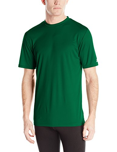 Mens Short Sleeve Practice Tee - Russell Athletic Men's Performance T-Shirt, Dark Green, 3X-Large