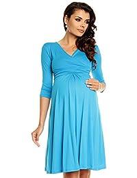 Zeta Ville Womenu0027s Maternity Dress Summer Cocktail Skater Baby Shower Dress  282c