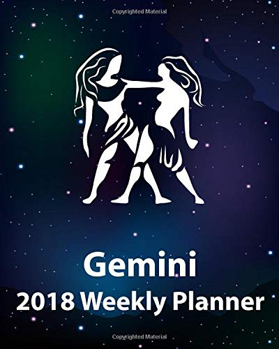 "Download Gemini 2018 Weekly Planner: Plan Your Year! (8"" x 10"", 130 pages) pdf"