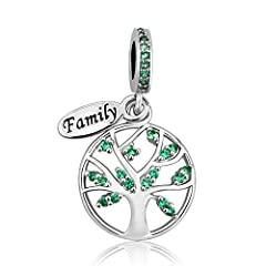 LovelyJewelry Family Tree of Life Dangle Charm Bead For Bracelet Pendant.Personalize your charm bead bracelet for THE perfect Christmas gift and its an ideal holiday gift idea for Mother's Day, Valentine's Day, Graduation Gift or Bridal Gifts...