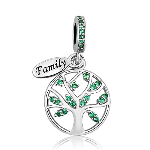 New LovelyJewelry Family Tree of Life Dangle Charm Bead For Bracelet Pendant (Family Tree)