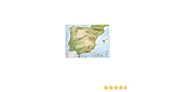 Mapa en relieve España físico: Escala 1:3.500.000: Amazon.es: All ...