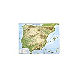 Mapa en relieve España físico: Escala 1:3.500.000: Amazon.es: All 3D Form S.L.: Libros