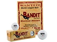 Bandit Non Conforming Illegal Maximum Distance Golf Balls 1 Dozen 12 Count Box
