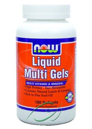Liquid Multi Gels 180 Softgels, From NOW Foods Liquid Multi Gels
