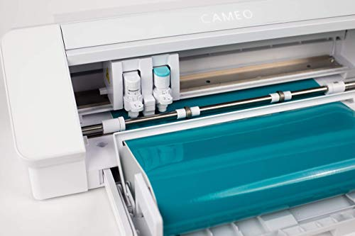 Silhouette Cameo 4 with Bluetooth, 12x12 Cutting Mat, Autoblade 2, 100 Designs and Silhouette Studio Software - White Edition