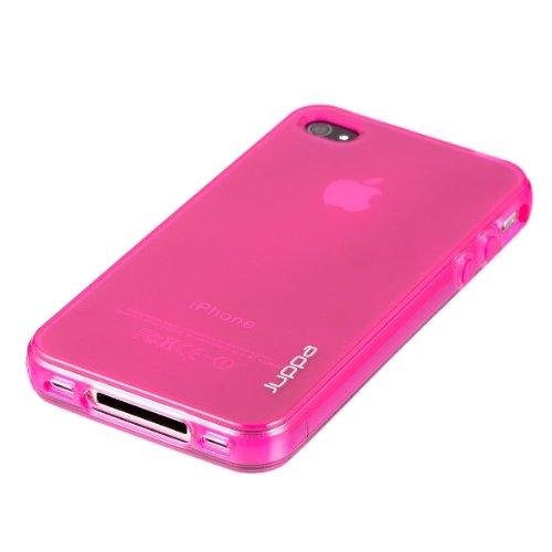 Juppa ® TPU Silikon Tasche Hülle Schutzhülle für Apple Iphone 4 4S - Rosa