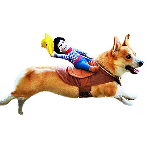 ZZURCCA Cute Riding Horse Cowboy Pet Dog Costumes Puppy Halloween Party Size XL]()