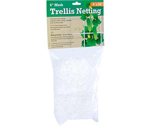 Hydrofarm HGN504 Flexible Polyethylene Trellis Netting, 4 x 50', 6